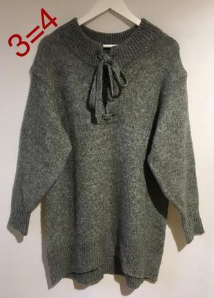 Шикарный тёплый свитер туника zara1 фото