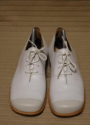 Комфортные комбинированные кожаные туфли - оксфорды vabene швейцария 40 р.