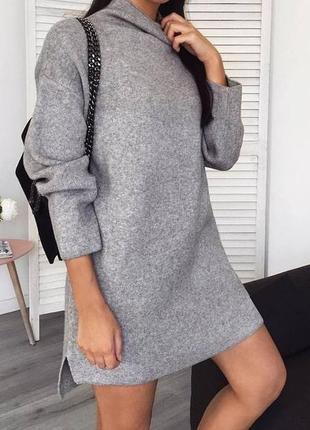 Платье - туника на флисе5 фото