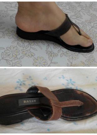 Кожаные босоножки сандалии bally оригинал 37 р
