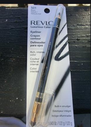 Revlon luxurious color карандаш для глаз с растушевкой