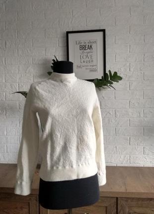 Свитер лонгслив пуловер massimo dutty белый, шерсть ,s,m,36-38
