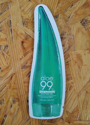 Пробник успокаивающего увлажеяющего геля aloe 99% от holika holika, корея