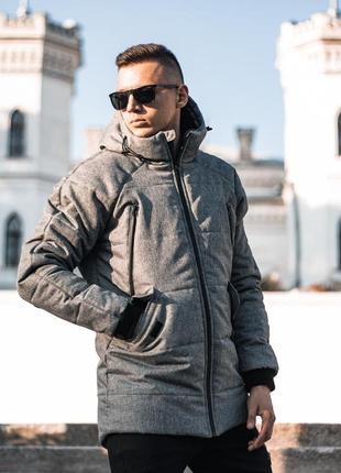 Зимняя куртка мужская stark серая, зимняя курточка