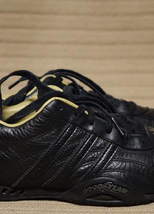 Качественные фирменные черные кожаные кроссовки adidas good year 36 2/3 р.