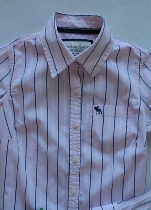 Хлопковая рубашка в полоску abercrombie&fitch в размере xs