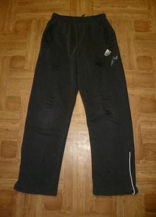 Теплые спортивные штаны высокая посадка на махровке для работы-дома-дачи,дефект