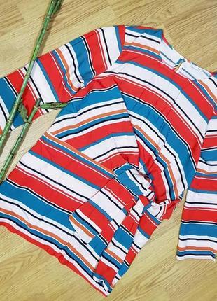 Натуральная блуза в полоску tu women  с узлом