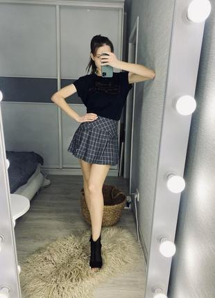 Стильная юбка в клетку от gloria jeans