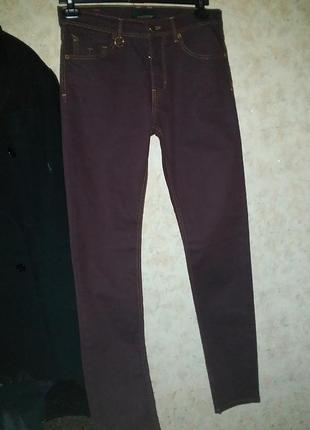 Джинсы брюки коричневые