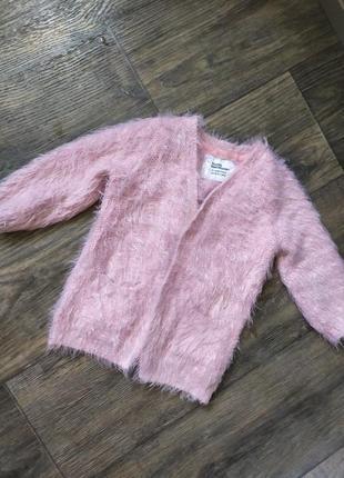 Теплая кофта, свитер, травка, 2-3-4 года, 92-98-104 см, зима