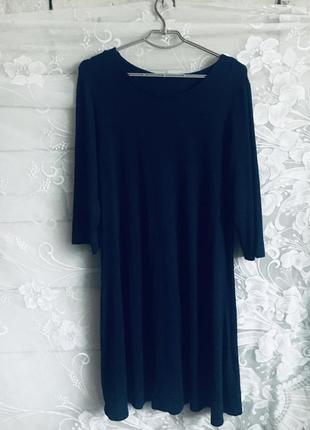 Батал большой размер стильное классное платье платьице плаття темное