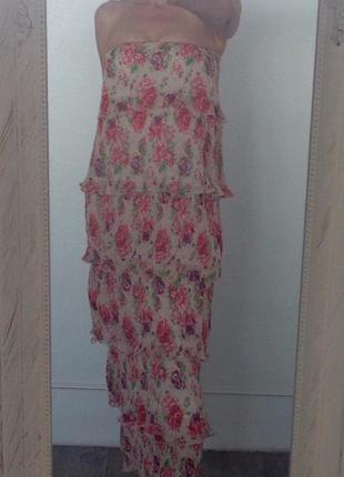 Стильное платье - макси danity tu. xs/s. англия.