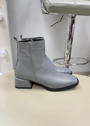Lux обувь! ботинки женские деми зима кожа замш3 фото