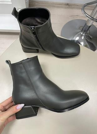 Lux обувь! ботинки женские деми зима кожа замш7 фото