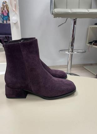 Lux обувь! ботинки женские деми зима кожа замш8 фото