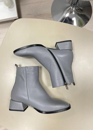 Lux обувь! ботинки женские деми зима кожа замш4 фото