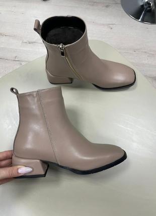 Lux обувь! ботинки женские деми зима кожа замш9 фото
