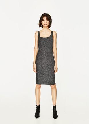 Платье zara trf 🖤ткань мерцает 🖤 размер м