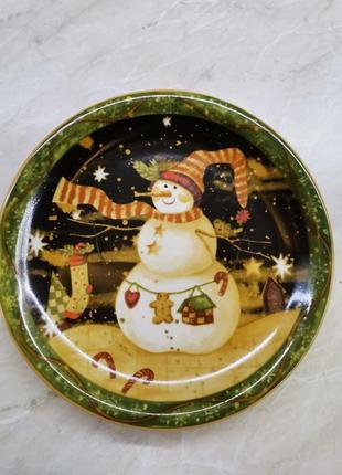 Тарелка новогодняя блюдо германия