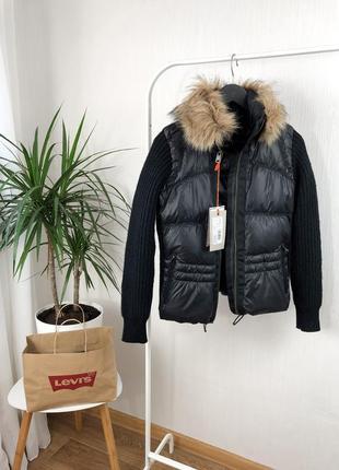 Пуховик, куртка из натурального пуха,куртка с мехом, sale %