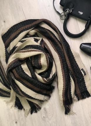 Объемный длинный шарф zara man