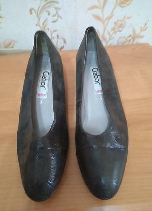 Туфлі gabor 40 р по ст 26 см8,5 см каблук 3,5 см
