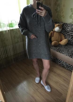 Шикарный тёплый свитер туника zara10 фото