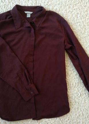 Темно бордовая рубашка