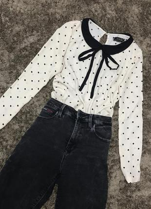 Блузка блуза в горошек