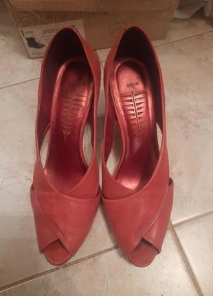1+1=3 кожаные туфли
