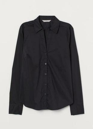 Черная базовая рубашка
