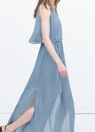 Платье макси зара