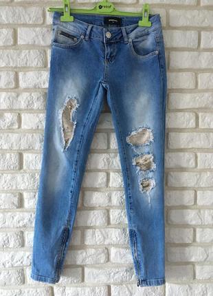 Шикарные джинсы speedway 26 размер пайетки рваности