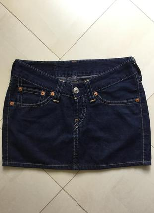 Фирменная оригинальная мини юбочка levi's р-р - 10 +