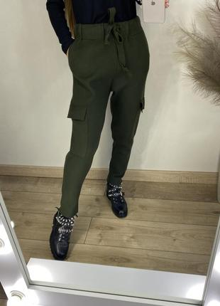 Плотные спортивные штаны джоггеры карго zara