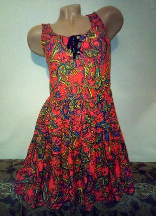 Летние яркое платье от topshop 42/44 р