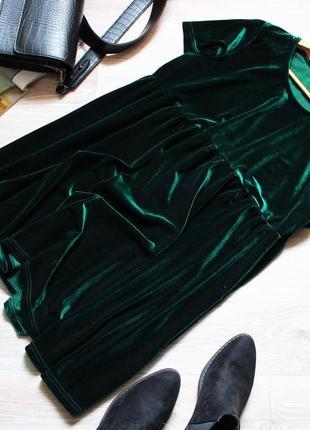 Шикарное качественное бархатное велюровое платье