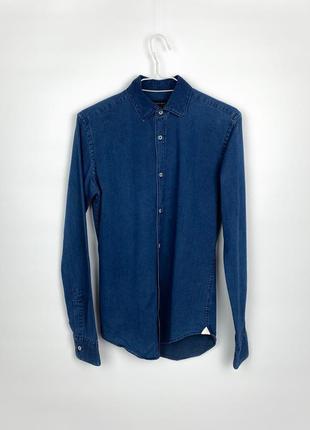 Рубашка джинсовая zara man denim shirt