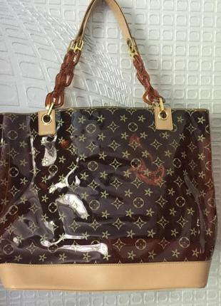 Брэндовыя  сумка-шоппер от louis vuitton