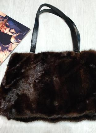 Нереально крутая сумка из меха норки