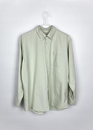 Рубашка m&s pure cotton oxford shirt - apple green