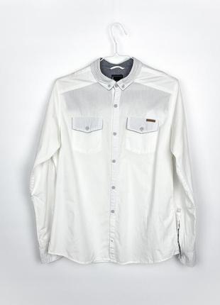 Рубашка белая cropp town white shirt