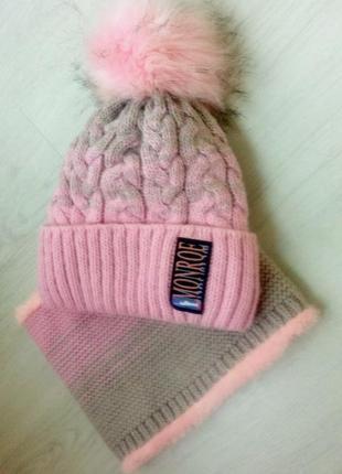 Комплект шапка и хомут❄