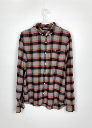 Рубашка в клетку cropp town cotton checked shirt