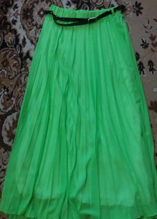 Плесированная шифоновая юбка