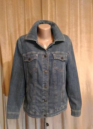 Джинсовая куртка gerry weber размер евро 44 xxl