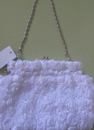 Сумочка белая.сумочка свадебная.