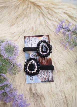 Набір пара резинок з сваровськими камнями/набор резинок сваровских