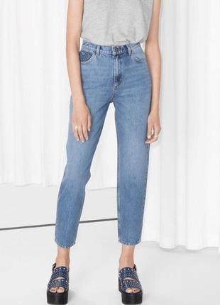 Mom джинсы светлые качественные